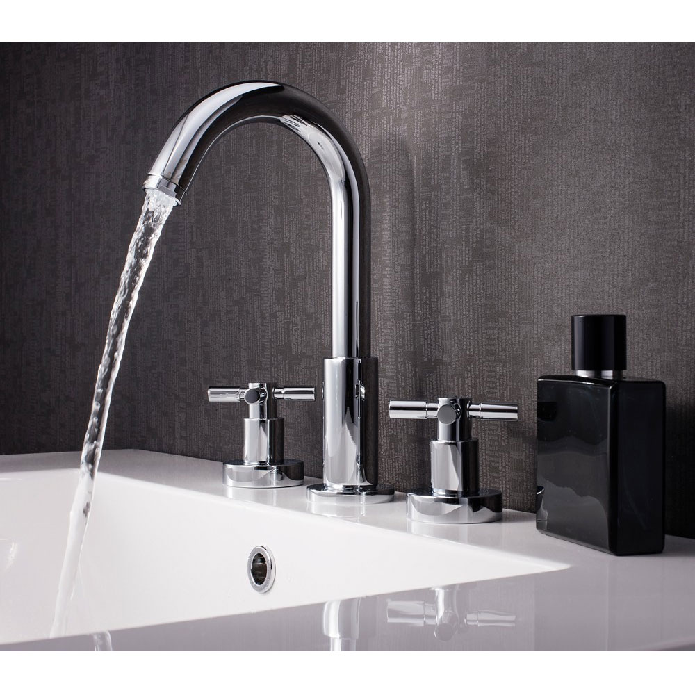 Crosswater - Totti 3 Tap Hole Basin Mixer with Pop-up Waste - TO135DPC Profile Large Image