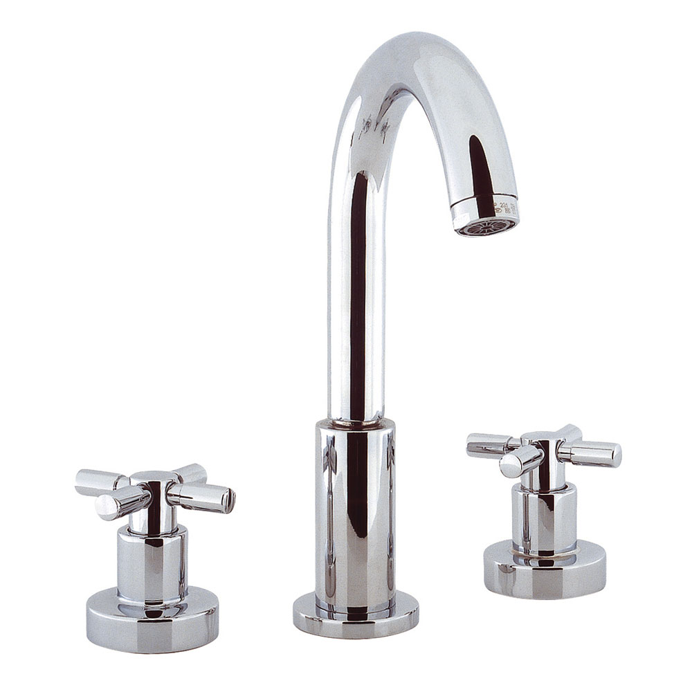 Crosswater - Totti 3 Tap Hole Basin Mixer with Pop-up Waste - TO135DPC Large Image
