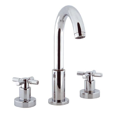 Crosswater - Totti 3 Tap Hole Basin Mixer with Pop-up Waste - TO135DPC