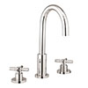 Crosswater Totti II 3 Tap Hole Basin Mixer with Pop-up Waste - TO135DPC+ profile small image view 1