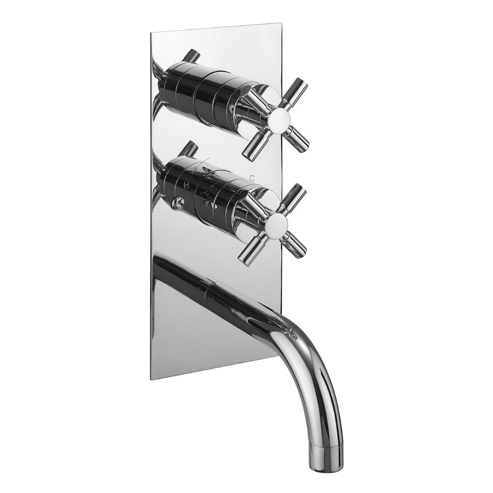 Crosswater - Totti Thermostatic Shower Valve with Bath Spout and Diverter - TO1600RC profile large image view 1