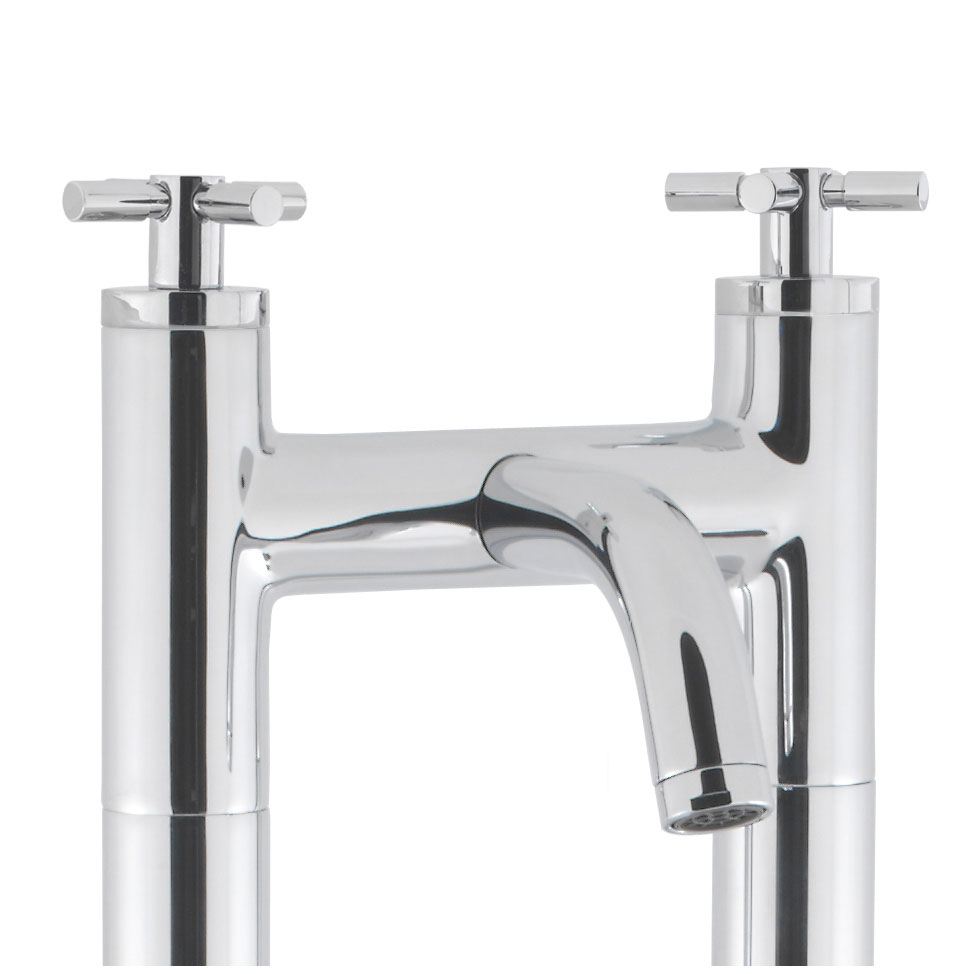 Crosswater - Totti Floor Mounted Freestanding Bath Filler - TO322DC-AA002FC profile large image view 2