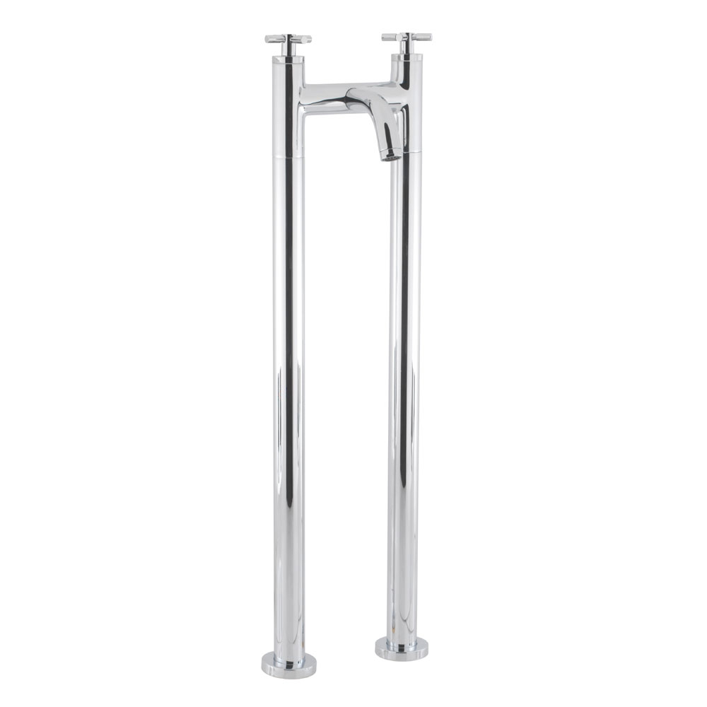 Crosswater - Totti Floor Mounted Freestanding Bath Filler - TO322DC-AA002FC Large Image