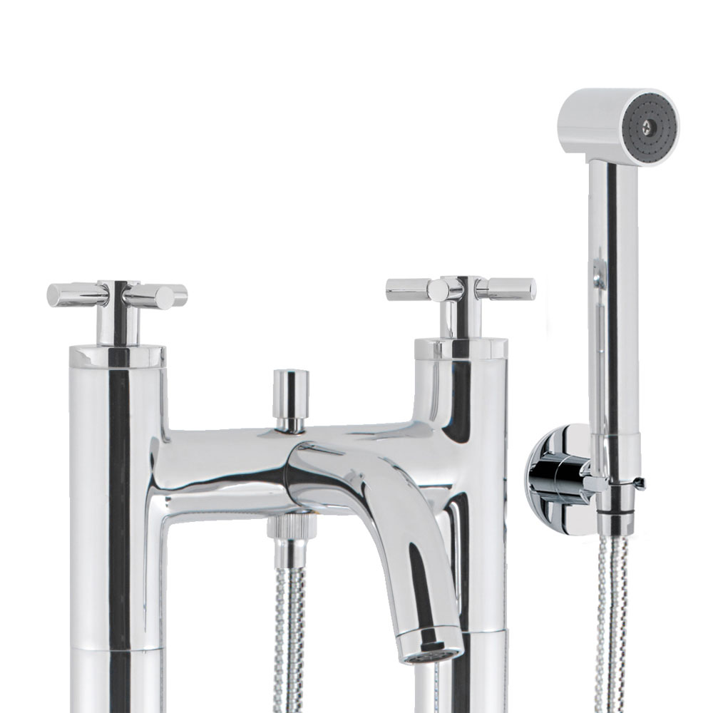 Crosswater - Totti Floor Mounted Freestanding Bath Shower Mixer - TO422DC-AA002FC Profile Large Image