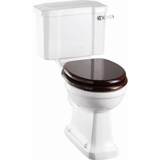 Burlington Cloakroom Slimline Toilet + Edwardian Basin Inc. Wash Stand profile large image view 3
