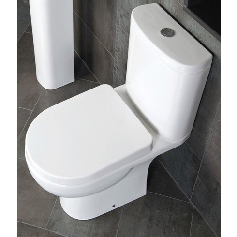 RAK Tonique Close Coupled Full Access Toilet with Soft Close Seat profile large image view 2