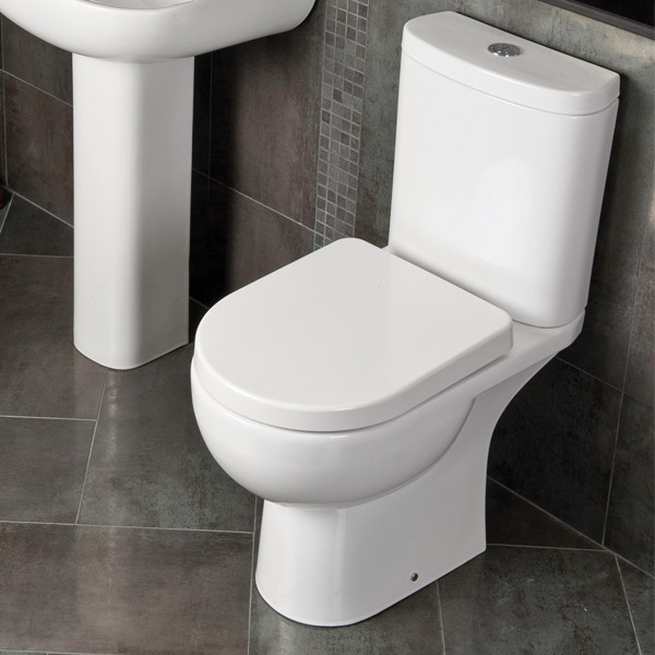 RAK Tonique Close Coupled Full Access Toilet with Soft Close Seat profile large image view 3
