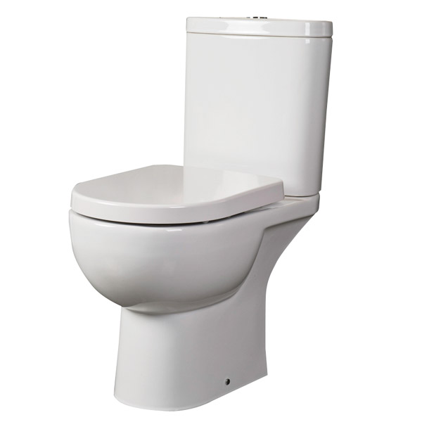 RAK Tonique Close Coupled Full Access Toilet with Soft Close Seat profile large image view 1