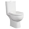 RAK Tonique Close Coupled Full Access Toilet + Soft Close Seat profile small image view 1
