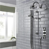 Hudson Reed Topaz Black Triple Concealed Shower with Slide Rail Kit & Fixed Head profile small image view 1
