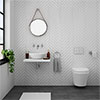 Toronto Wall Hung Cloakroom Suite profile small image view 1