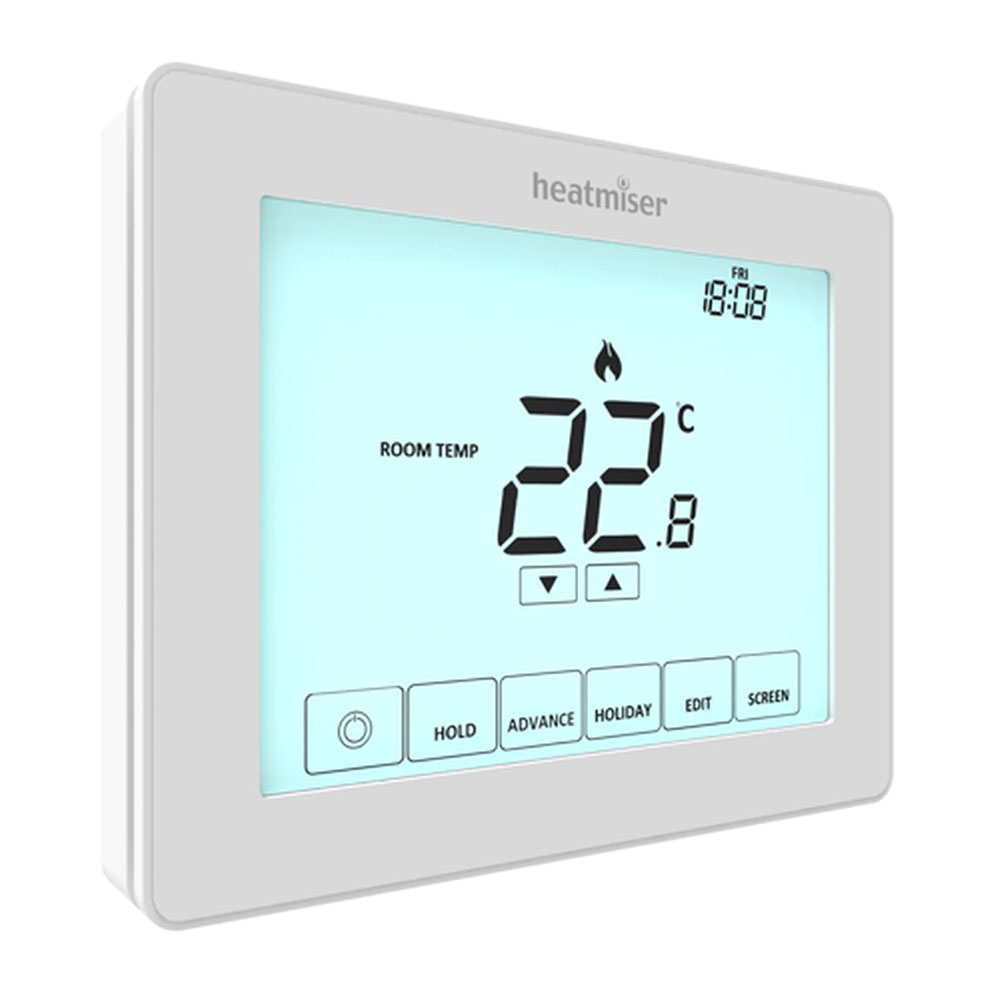 Heatmiser Programmable Touchscreen Room Thermostat - Heatmiser Touch v2