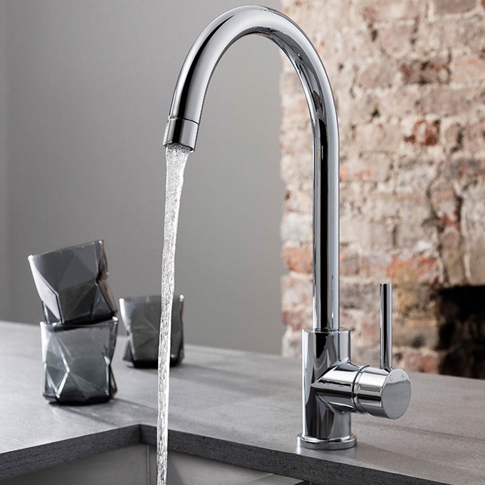 Crosswater Tropic Side Lever Kitchen Mixer with Concealed Spray Head - TP714DC profile large image view 2