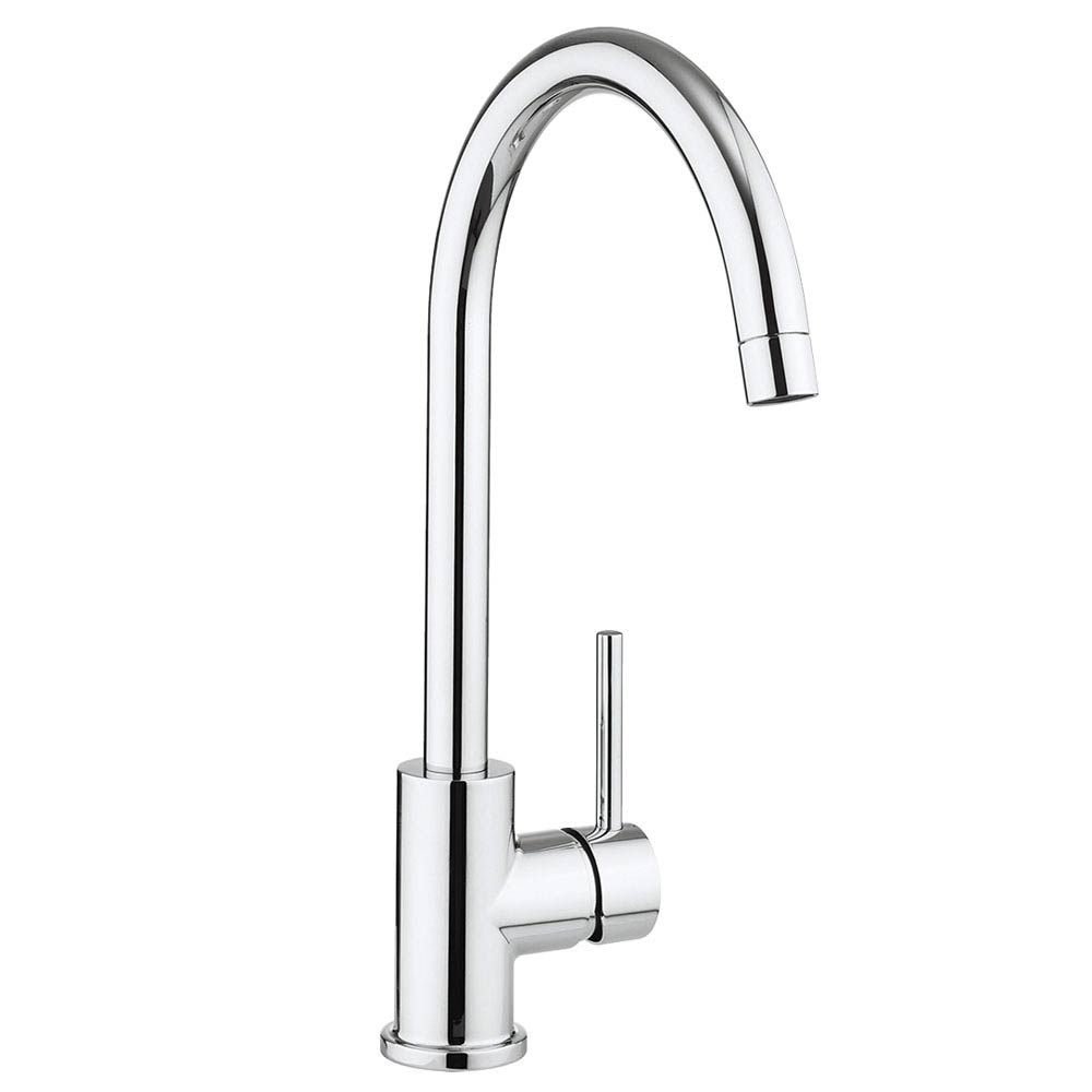 Crosswater Tropic Side Lever Kitchen Mixer with Concealed Spray Head - TP714DC profile large image view 1