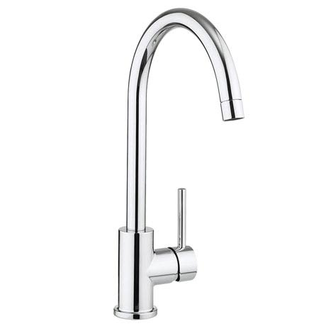 Crosswater Tropic Side Lever Kitchen Mixer with Concealed Spray Head - TP714DC