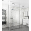 Toronto 8mm Wet Room Screen (Various Sizes) + 2 Ceiling Poles profile small image view 1