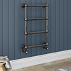 Bloomsbury Black Nickel 498 x 748mm Wall Mounted Towel Rail profile small image view 1