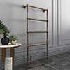 Bloomsbury Old English Brass 498 x 1194mm Floor Mounted Towel Rail profile small image view 1