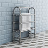 Crosby Traditional Freestanding Towel Rail Column Radiator (850 x 673mm) profile small image view 1