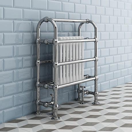 Crosby Traditional Freestanding Towel Rail Column Radiator (850 x 673mm)