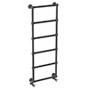 Bloomsbury Black Nickel 1548 x 498mm Wall Mounted Towel Rail profile small image view 1