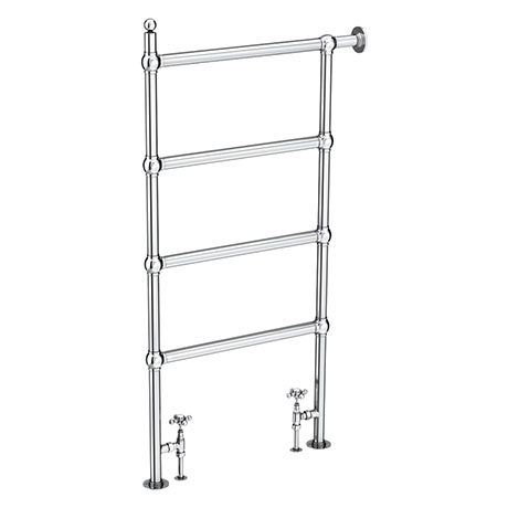 Chatsworth Traditional 1194 x 598mm Chrome Space-Saving Heated Towel Rail