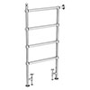 Chatsworth Traditional 1194 x 598mm Chrome Space-Saving Heated Towel Rail profile small image view 1