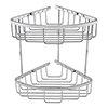 Turin Modern 2 Tier Corner Fixed Wire Basket profile small image view 1