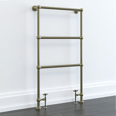 Hamilton Antique Bronze Traditional 949 x 598mm Floor Mounted Towel Rail