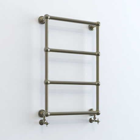 Inglewood Antique Bronze Traditional 748 x 498mm Wall Mounted Heated Towel Rail
