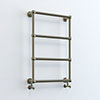 Inglewood Antique Bronze Traditional 748 x 498mm Wall Mounted Heated Towel Rail profile small image view 1