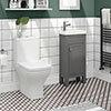 Trafalgar Grey Cloakroom Suite profile small image view 1