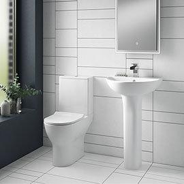 Turin Round 4-Piece Modern Bathroom Suite