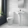 Turin Round 4-Piece Modern Bathroom Suite profile small image view 1