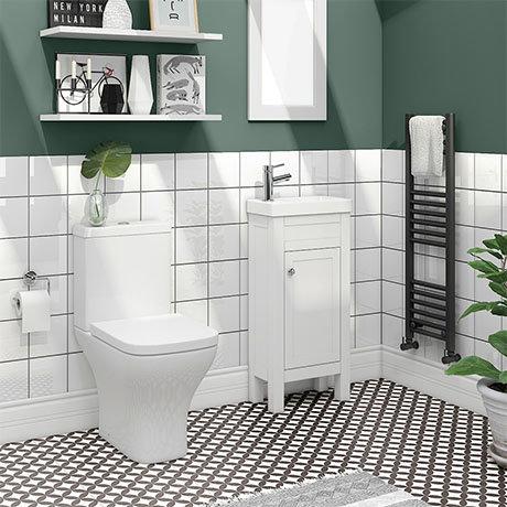 Trafalgar White Cloakroom Suite