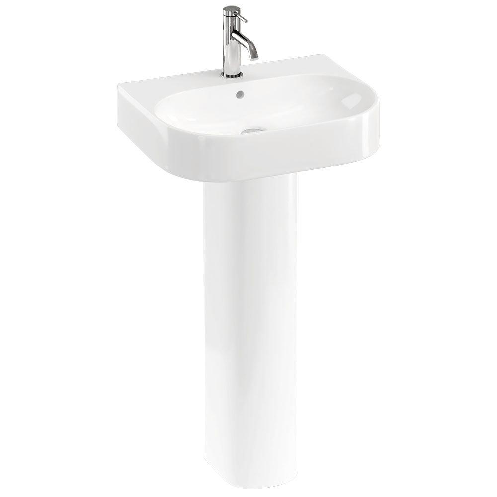Britton Bathrooms Trim 500mm 1TH Basin with Full Pedestal