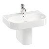 Britton Bathrooms Trim 600mm 1TH Basin with Semi Pedestal profile small image view 1