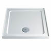 Twyford Square Shower Tray with Upstand 760 x 760mm profile small image view 1