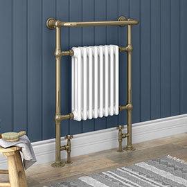 Savoy Antique Bronze Traditional Heated Towel Rail