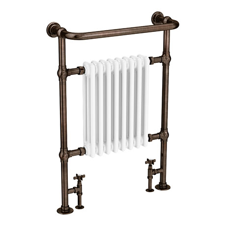 Savoy Antique Copper Traditional Heated Towel Rail Radiator