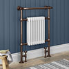 Savoy Antique Copper Traditional Heated Towel Rail Radiator profile small image view 1