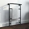Savoy Black Nickel Traditional Heated Towel Rail profile small image view 1