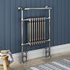 Savoy Raw Metal (Lacquered) Traditional Heated Towel Rail profile small image view 1