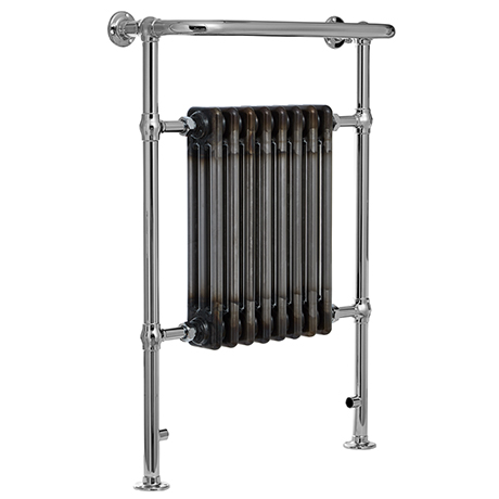 Savoy Raw Metal (Lacquered) Traditional Heated Towel Rail