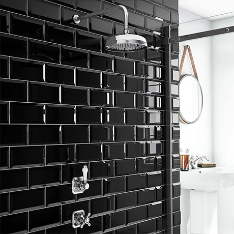"""Trafalgar Traditional Concealed Individual Stop Tap + Thermostatic Control Valve with 8"""" Shower Head"""