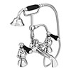 Chatsworth 1928 Traditional Black Lever Bath Shower Mixer Tap with Shower Kit Small Image