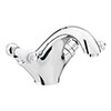 Chatsworth 1928 Traditional White Lever Mono Basin Mixer Tap + Waste profile small image view 1