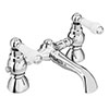 Chatsworth 1928 Traditional White Lever Bath Filler Tap profile small image view 1