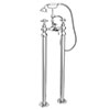 Chatsworth 1928 Traditional Crosshead Freestanding Bath Shower Mixer Tap profile small image view 1