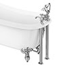 Chatsworth 1928 Traditional Bath Shower Mixer Tap with Adjustable Shrouds for Roll Top Baths profile small image view 1
